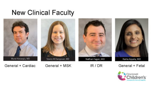 Please Welcome New Clinical Faculty to the Radiology Department