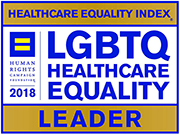 Healthcare Equality Index badge.