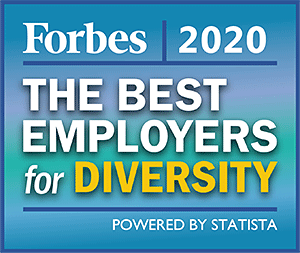 Forbes Best Employers for Diversity.