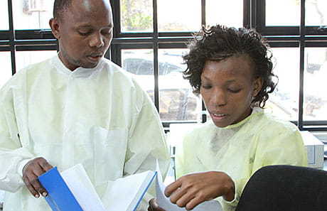 The Cincinnati Children's sickle cell team trained Ugandan Health Ministry staff to run the sickle cell lab in Kampala.