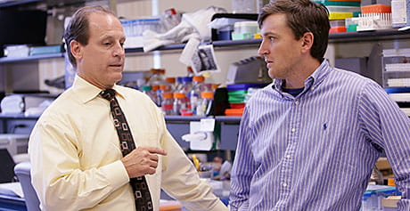 Russell Ware, MD (left), and Patrick McGann, MD, are leading the hydroxyurea study.