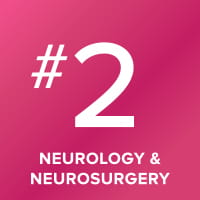 Neurology and Neurosurgery program ranked number 2 in the nation.