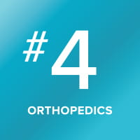 Orthopedics program ranked number 4 in the nation.