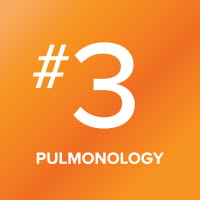 Pulmonology program ranked number 3 in the nation.