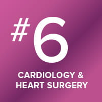 Our cardiology and heart surgery program is ranked number six in the nation.