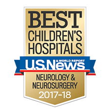 Our neurology and neurosurgery services are ranked No. 4 in the nation in the 2016-17 list of Best Children's Hospitals.