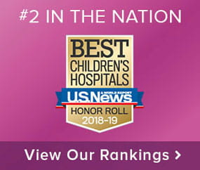 U.S. News & World Report ranks Cincinnati Children's the No. 2 pediatric hospital in the nation.