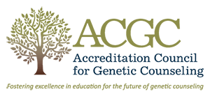 Accreditation Council for Genetic Counseling badge.