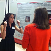 Emily presenting her prize winning poster