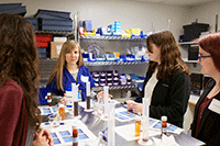 Practice drug formulation in the Pharmacy.