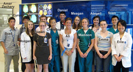 Summer Internship group photo from 2012.