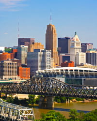 Photo of the Cincinnati skyline.