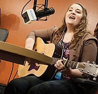 Elizabeth, a patient of Cincinnati Children's, was asked to sing the first live performance for WKID 33.