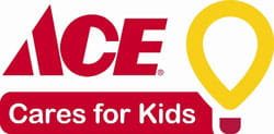 Ace cares for kids logo.