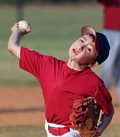 Pitching can contribute to little league shoulder.