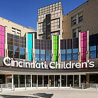 Main entrance to Cincinnati Children's.