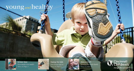Front cover of the Spring 2012 issue of  Young and Healthy.