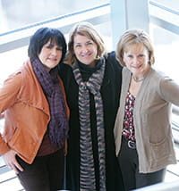 The Travel Clinic team includes (from left) Robin Gordon, Mary Allen Staat, MD, MPH, and Kelly Hicks, CNS, RN.