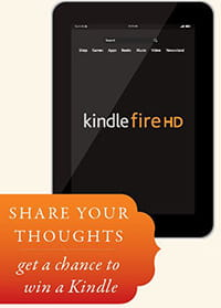 Image of Kindle Fire HD tablet.