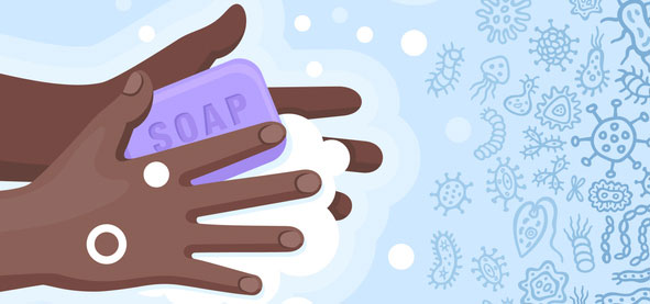 Clean hands can help prevent spread of germs such as the flu.