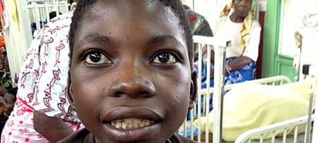 A patient inside a Malawi hospital.