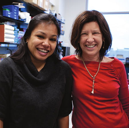 Ami Patel (left) and Dr. Nancy Ratner.