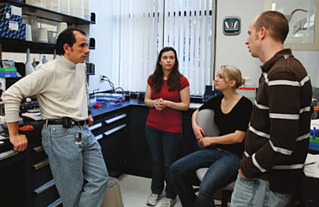 Palumbo and his laboratory team.