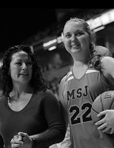 Lauren Hill, photographed with her physician, Dr. Mariko DeWire.