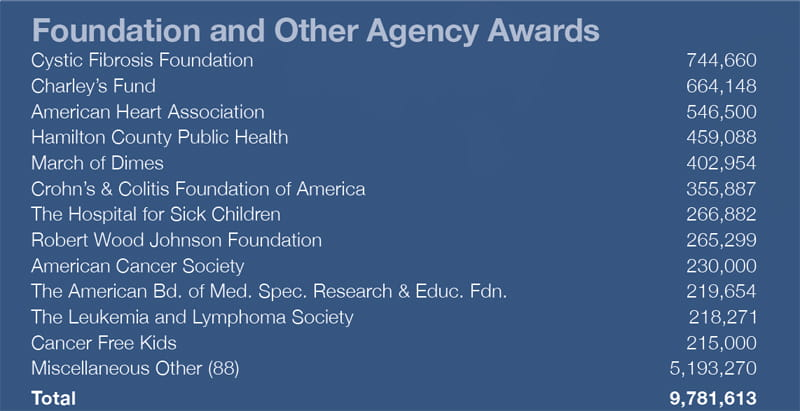 Funding - Foundation and Other Agency Awards