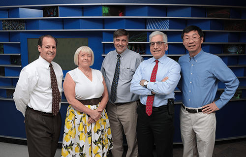 A photo of faculty members from Cancer and Blood Diseases Institute.