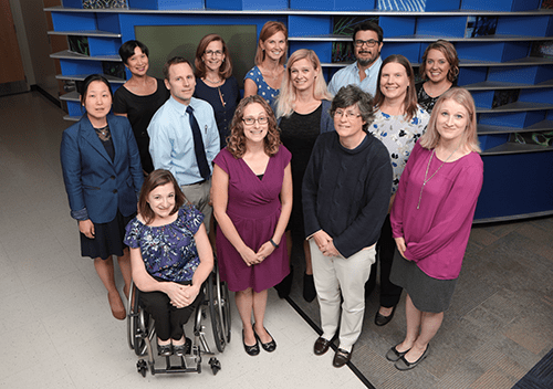 A photo of faculty members from Developmental and Behavioral Pediatrics.