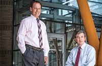 A photo of Russell Ware, MD, PhD, and Patrick McGann, MD.