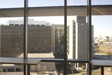 View of University of Cincinnati Medical School from Location S.