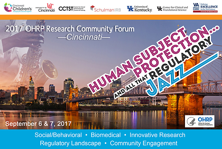 OHRP Research Community Forum 2017.