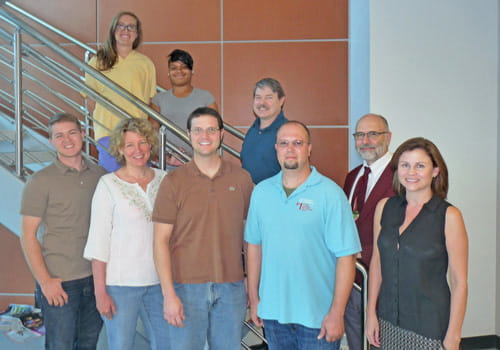 A group photo of the Biobank team.