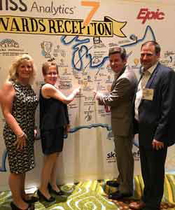 Team from Children's information services department on the red carpet at the HIMSS Stage 7 Recognition.