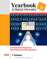 IMIA Yearbook of Medical Informatics 2016