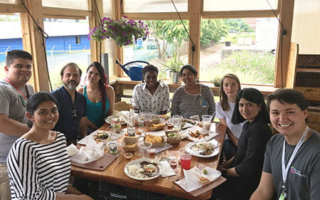 Bens last day lab lunch at Mazunte 2018