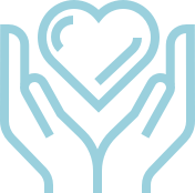 A donate icon to represent philanthropy.