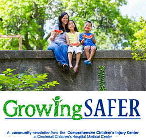 The front cover from the latest issue of our e-newsletter, Growing Safer.