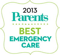 2013 Parents Best Emergency Care badge.