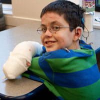 Shane DiGiovanna receives treatment for Epidermolysis Bullosa (EB).