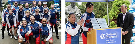 The 2014 riders and check presentation.