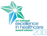 PRC National Excellence in Healthcare Award Winner, 2013.