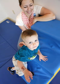 Physical therapists at Cincinnati Children's help patients use and improve their gross motor skills -- from rolling and crawling to climbing and jumping.