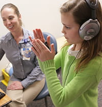 The Interactive Metronome (IM) program is customized to meet a patient's specific needs.