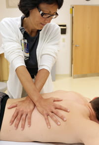 Myofascial release is provided by pediatric-trained occupational and physical therapists as part of holistic care.