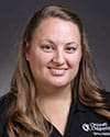 A photo of athletic trainer Lauren Tauber.