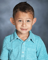 A school photo of a pediatric urology patient.