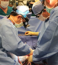 A team of surgeons at work.